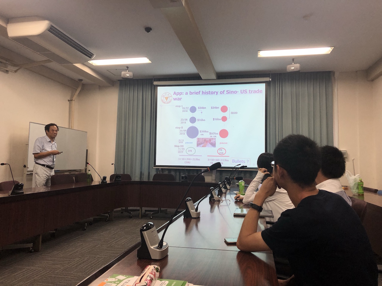 経済学部と社会文化科学研究科共催の経済セミナーが開かれました。